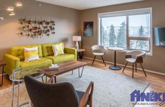 55+ Downtown 1-Bedroom Suite with Kinsmen Park Views