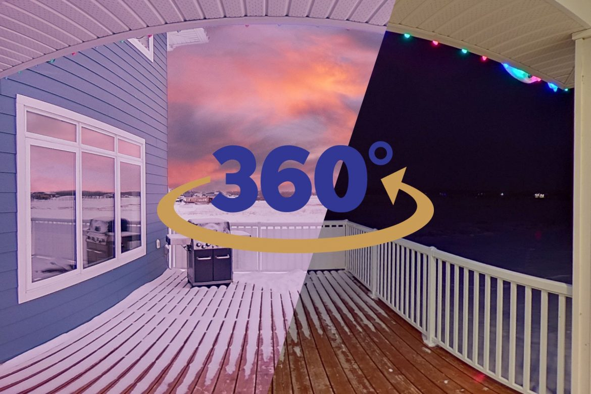 Image Depicting a Live Panorama's ability to show the same 360-degree scene at day and night